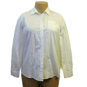 Tommy Hilfiger white button up formal shirt Large